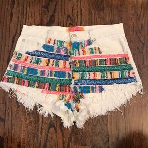 English Rose denim shorts size smal